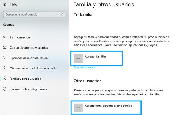 Imagen - Cómo añadir nuevos usuarios en Windows 10