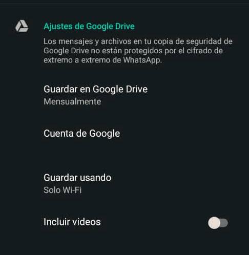 Imagen - Copias de seguridad de WhatsApp en Google Drive