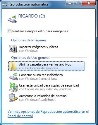 Imagen - Guardar la configuración de la red WiFi en una unidad USB