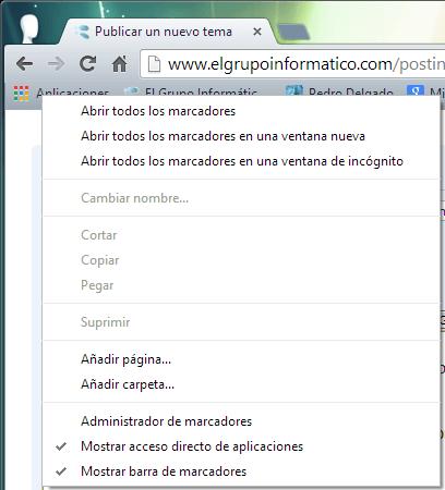 Imagen - Quitar botón Aplicaciones en Chrome