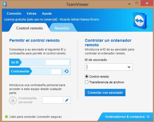 Imagen - Compartir el escritorio con TeamViewer