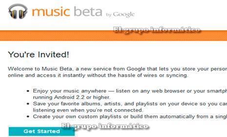 Imagen - Como conseguir invitación para registrarse en Google Music