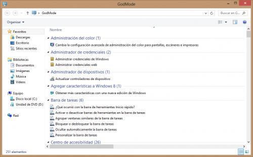 Imagen - Activar el Modo Dios en Windows 8