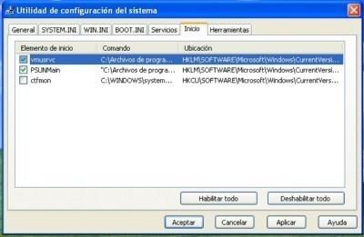 Imagen - Consultar y configurar programás que se inician con Windows
