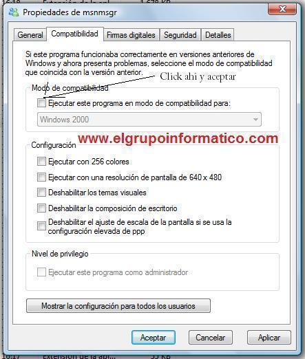 Imagen - Solucion para seguir usando el MSN 7.5