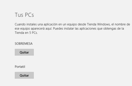 Imagen - Eliminar un dispositivo de la tienda de Windows 8