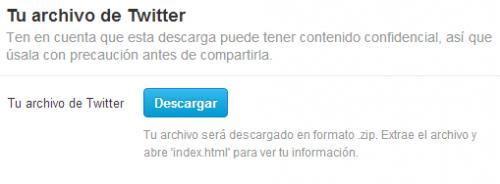 Imagen - Cómo hacer copia de seguridad de nuestros tweets