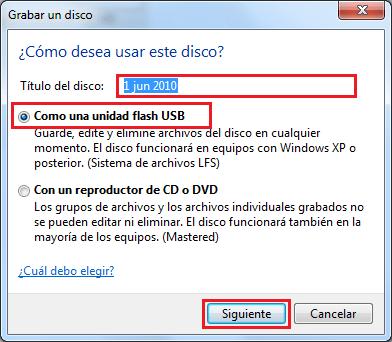 Imagen - Grabar disco como unidad de Flash