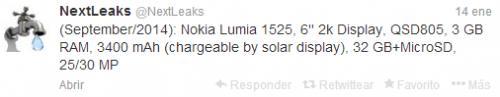 Imagen - Nokia Lumia 1820 y Lumia 1525, potencia y grandes pantallas