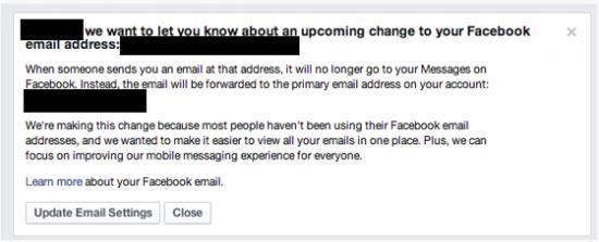 Imagen - Facebook acaba con las direcciones @facebook.com