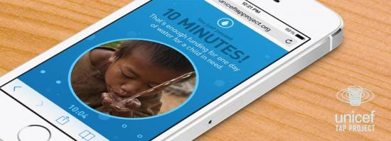Imagen - Unicef Tap Project, deja de usar tu móvil a cambio de donar agua potable