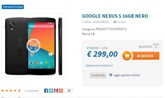 Imagen - El Nexus 5 baja de los 349 euros