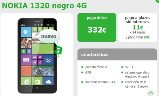 Imagen - El Nokia Lumia 1320 ya está disponible con Amena