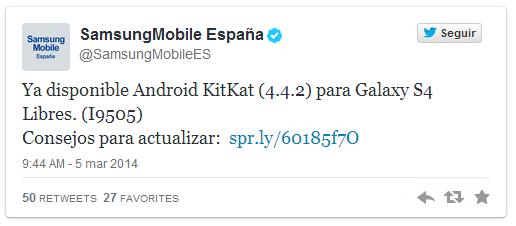Imagen - Los Samsung Galaxy S4 libres ya están recibiendo Android 4.4.2 KitKat