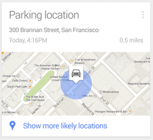 Imagen - Google Now ya te recuerda dónde aparcaste el coche