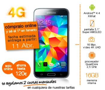 Imagen - Samsung Galaxy S5 a la venta el 11 de abril: Orange ya lo tiene