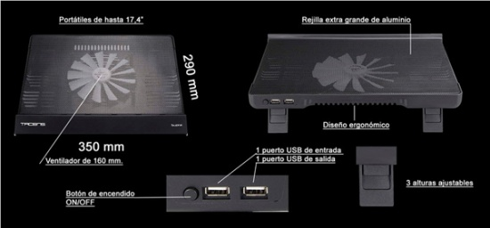 Imagen - Review: Base refrigeradora Tacens Supra