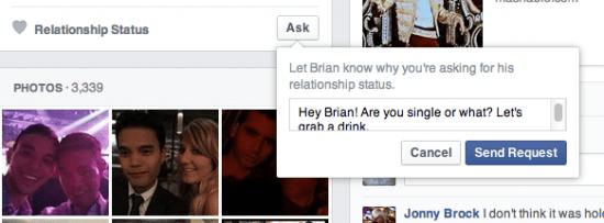 Imagen - Facebook añade un botón para preguntar sobre el estado sentimental