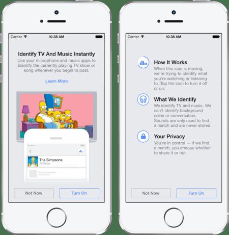 Imagen - Facebook reconocerá canciones, películas y series como Shazam