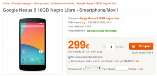 Imagen - Ofertas móviles: Nexus 5 por 299 euros y Nokia X por 129 euros