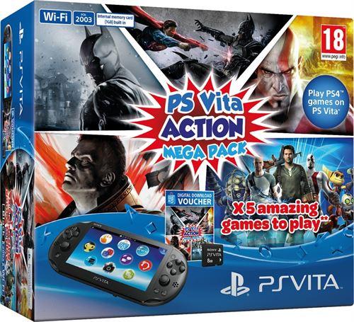 Imagen - Action Mega Pack: Cinco juegos, una PS Vita y una tarjeta de memoria de 8GB por 199,99 €