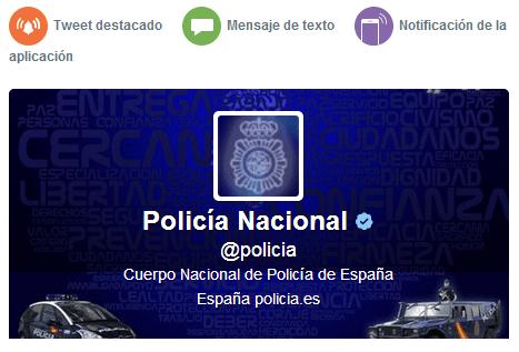 Imagen - Twitter Alerts ya funciona en España gracias a la Policía Nacional