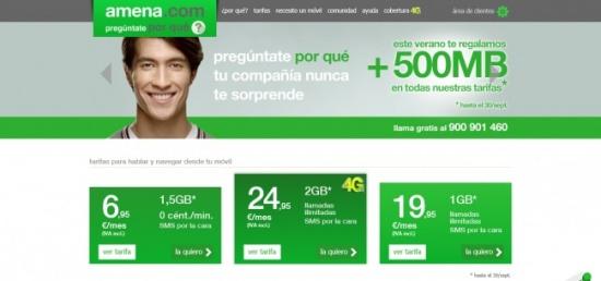 Imagen - Amena premia a todos sus clientes con 500MB gratis hasta el 30 de septiembre