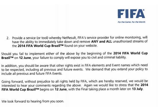Imagen - La FIFA advierte a las webs de streaming