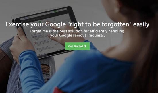 Imagen - Forget.me, una iniciativa que te ayuda a ejercer el derecho al olvido en Google