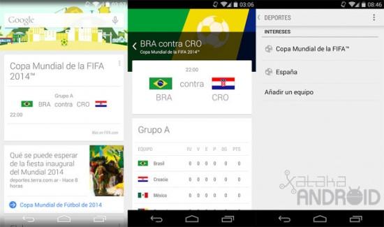 Imagen - Toda la información del Mundial de Fútbol en tiempo real con Google Now
