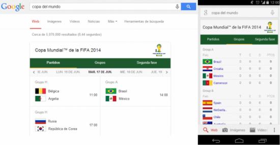 Imagen - La programación de partidos, grupos y resultados del Mundial 2014 ahora en Google