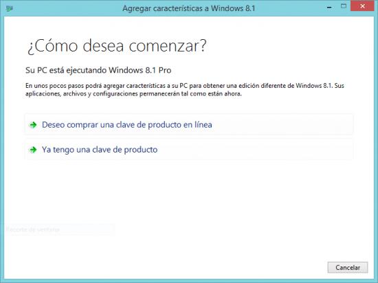 Imagen - Cómo actualizar Windows 8 a Windows 8 Pro