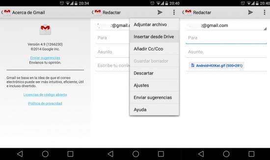 Imagen - Gmail 2.9 para Android permite adjuntar archivos desde Google Drive