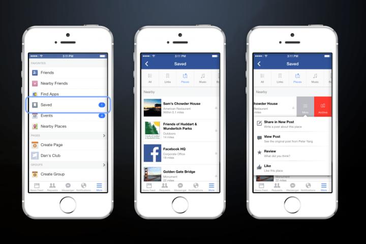 """Imagen - Facebook incorpora la función """"guardar para ver después"""""""