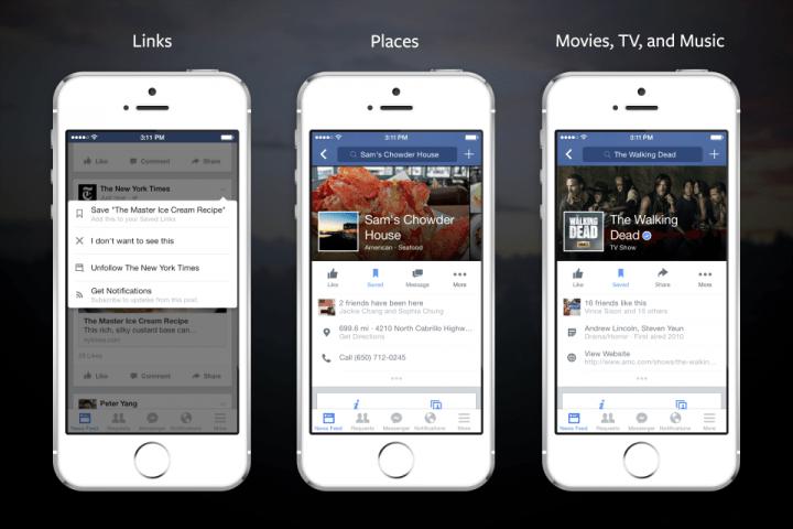 """Facebook incorpora la función """"guardar para ver después"""""""