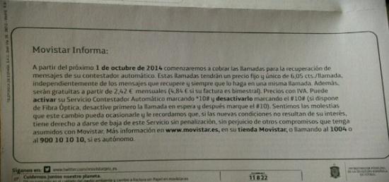 Imagen - Movistar cobrará por el contestador: te puedes dar de baja aunque tengas permanencia