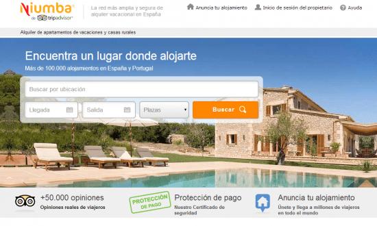 Niumba alquiler de apartamentos de vacaciones y casas rurales for Alquiler de apartamentos en sevilla espana