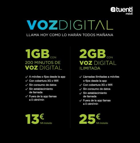 Imagen - Tuenti Móvil Voz Digital, tarifas basadas en VoIP y el móvil en la nube