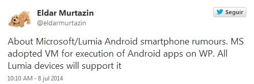 Imagen - Windows Phone podría ejecutar apps de Android