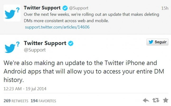 Imagen - Twitter mejorará los mensajes directos