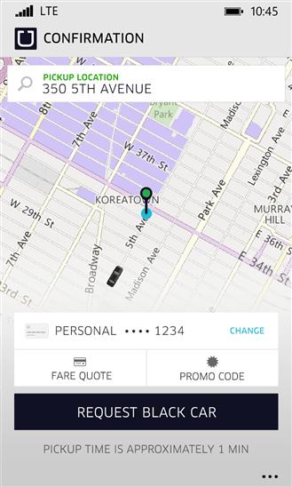 Imagen - Uber, ahora disponible para Windows Phone