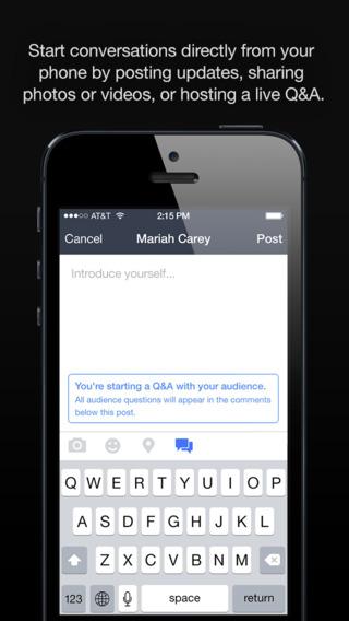 Imagen - Facebook Mentions, una app solo para famosos con iPhone