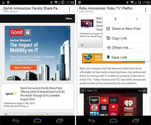 Imagen - Facebook para Android ahora abre los enlaces en la app