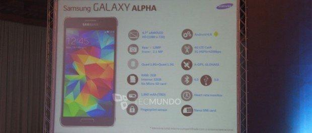 Imagen - Samsung Galaxy Alpha: se confirman las especificaciones oficiales