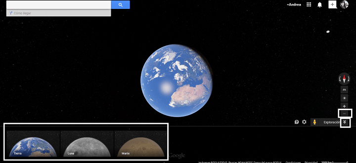 Imagen - Visita la Tierra, la Luna y Marte en Google Maps