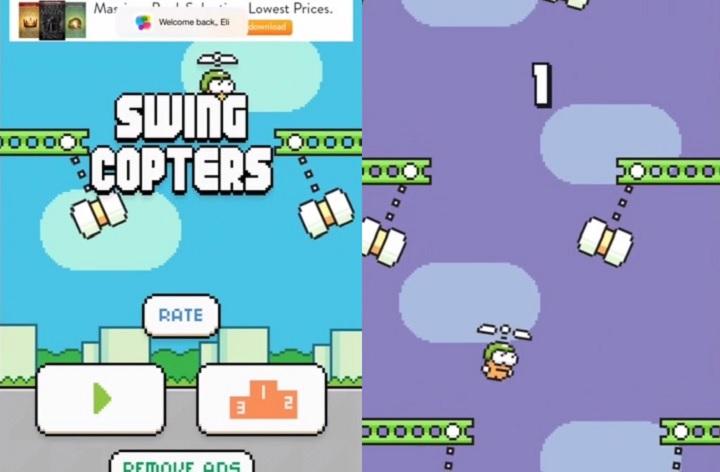 Swing Copters, el nuevo Flappy Bird en vertical