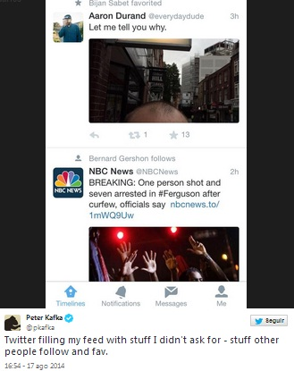 Imagen - Twitter empieza a mostrar los favoritos en el timeline