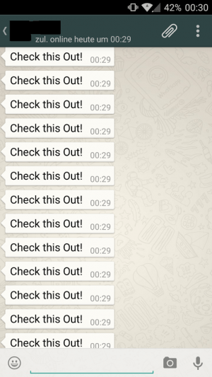 Imagen - WhatsApp Spammer, envía hasta 5000 veces un mismo mensaje