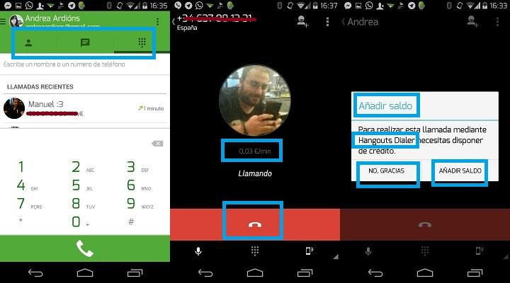 Imagen - Hangouts permitirá llamar gratis