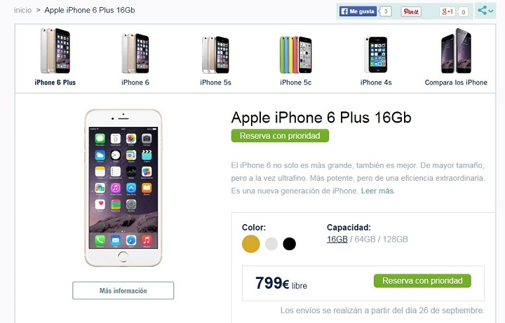 iPhone 6 e iPhone 6 Plus, disponibles en Phone House